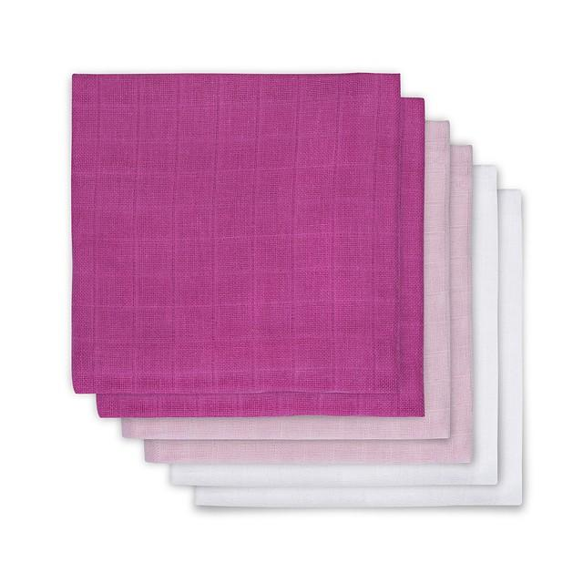 Komplet 6 tetra pleničk Hydrophilic, Roza/bela/pink