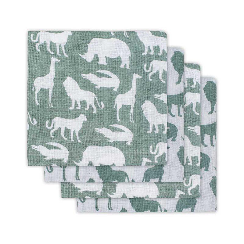 Komplet tetra pleničk Hydrophillic, Safari zeleno siva