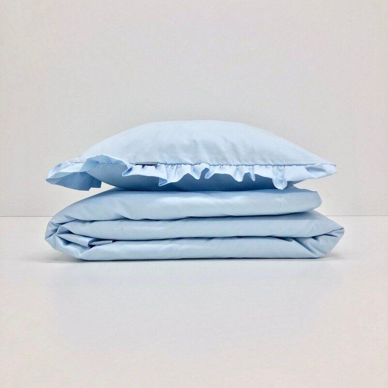 2 delna posteljnina, Modra