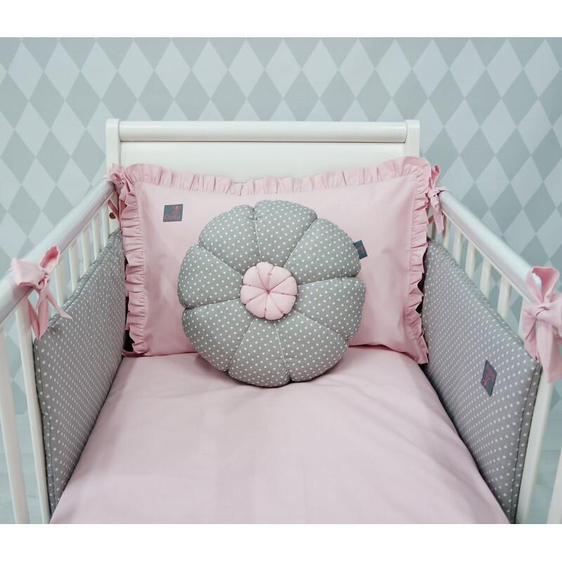 2-delna posteljnina, Puder roza 120*90