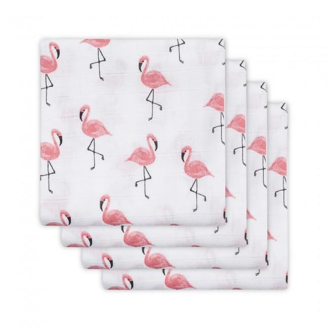 Komplet 4 tetra pleničk Hydrophilic, Flamingoti