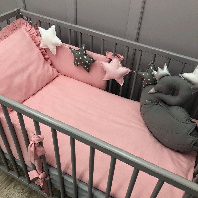 2-delna posteljnina iz lanu, Roza